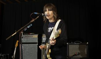 Chrissie Hynde, lead singer of the Pretenders, during rehearsals at John Henry's Studio in north London on Jan. 22, 2009. (Associated Press) **FILE**
