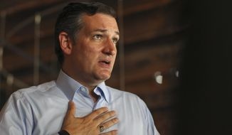 Concerned Veterans for America wants presidential candidates to hold town-hall meetings to address issues like the one Sen. Ted Cruz attended last week (Associated Press)