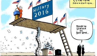 The Clinton Foundation ... (Illustration by Jack Ohman of the Tribune Media Services)