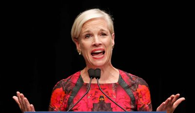 "Cecile Richards, president of Planned Parenthood, told Congress that her organization adheres to medical ethical standards and that just 1 percent of their budget goes to fetal research services. She also said the series of undercover videos were obtained illegally and ""doctored."" (Associated Press) ** FILE **"