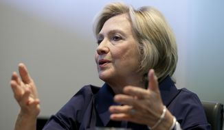 """I should have used two email addresses, one for personal matters and one for my work at the State Department. Not doing so was a mistake. I'm sorry about it, and I take full responsibility,"" Hillary Rodham Clinton wrote in a post that repeats many of her words from an ABC News interview earlier Tuesday. (Associated Press)"
