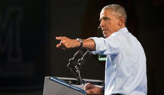 President Obama once again cast higher education as key to economic growth during a speech in Warren, Michigan, on Wednesday. (Associated Press)