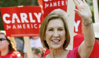 Carly Fiorina will appear in the prime-time segment of the next RepUblican presidential debate, CNN announced Wednesday evening. (Associated Press)