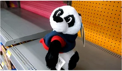 Twerking panda in WalMart toy section. (Image by the author)