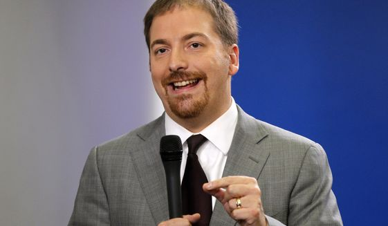 Chuck Todd of NBC News speaks at the White House in Washington, Oct. 29, 2010. (AP Photo/Charles Dharapak, File) ** FILE **