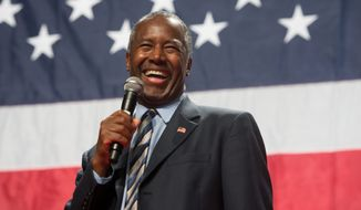 Ben Carson arguably remains the biggest surprise of the campaign season, having quietly taken over second place in polls in key early-voting states. (Associated Press) ** FILE **