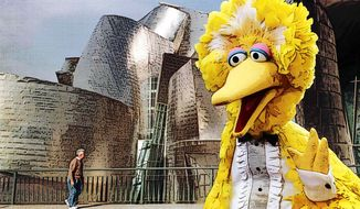 Big Bird Visits the Guggenheim Illustration by Greg Groesch/The Washington Times