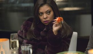 "In this image released by Fox, Taraji P. Henson as Cookie Lyon appears in a scene from ""Empire."" (Chuck Hodes/FOX via AP)"