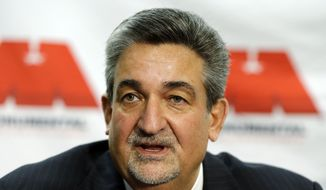 Washington Mystics majority owner, chairman and chief executive officer Ted Leonsis speaks during a WNBA basketball news conference announcing the hiring of head coach and general manager Mike Thibault, Tuesday, Dec. 18, 2012, in Washington. (AP Photo/Alex Brandon)