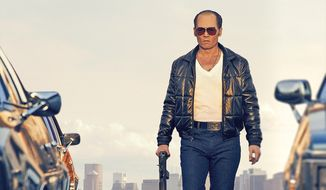"In this image released by Warner Bros. Entertainment, Johnny Depp portrays Whitey Bulger in the Boston-set film, ""Black Mass."" (Warner Bros. Entertainment via AP)"