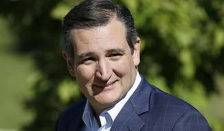 Republican presidential candidate, Sen. Ted Cruz, R-Texas, arrives at the Iowa Faith & Freedom Coalition's annual fall dinner, Saturday, Sept. 19, 2015, in Des Moines, Iowa. (AP Photo/Charlie Neibergall) ** FILE **