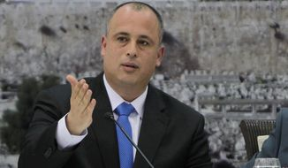 Hilik Bar, a deputy speaker of the Knesset, said Israel's major parties were lined up behind Likud Prime Minister Benjamin Netanyahu in opposing the agreement with Tehran, which will give Iran relief from punishing international sanctions in exchange for more restrictions and monitoring of its suspect nuclear programs for the next decade. (Associated Press)