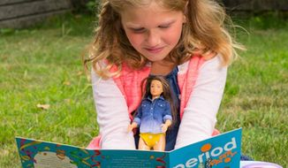 """Makers of the Lammily fashion doll, also known as """"Normal Barbie,"""" have introduced a """"Period Party"""" accessory pack to help young girls track their dolls' menstruation cycle. (Lammily)"""