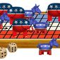 Illustration on the presidential race so far by Alexander Hunter/The Washington Times