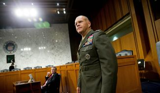 Lt. Gen. Robert Neller, the newly appointed Marine Corps commandant, was given a pass on questions regarding punishment doled out to a Marine whistleblower. (Associated Press)