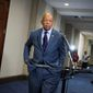 Rep. Elijah Cummings, D-Md., arrives to speak with reporters on Capitol Hill in Washington, Thursday, Sept. 10, 2015, after testimony by Bryan Pagliano, a former State Department employee who helped set up and maintain a private email server used by Hillary Rodham Clinton. (AP Photo/Cliff Owen) ** FILE **