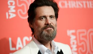 Jim Carrey arrives at the Los Angeles County Museum of Art's 50th anniversary gala in Los Angeles on April 18, 2015. (Richard Shotwell/Invision/Associated Press) **FILE**