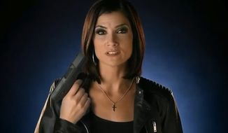 Conservative talk radio host and gun-rights advocate Dana Loesch says she has reached out to the FBI after an Internet troll edited a promotional video she recently did for the National Rifle Association to depict her bloody gun death. (Twitter/@TomAdelsbach)