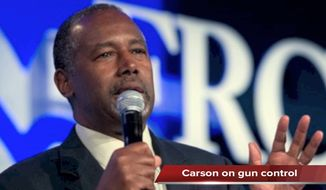 Tim Constantine reports on Dr. Ben Carson's comments on gun control, Hillary Clinton taking on Donald Trump, and Alec Baldwin calling outHillary Clinton and Donald Trump as warmongers.