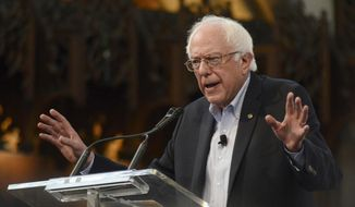 Democratic presidential candidate Sen. Bernie Sanders, I-Vt., speaks at the University of Chicago in Chicago, in this Sept. 28, 2015, file photo. (AP Photo/Paul Beaty) ** FILE **