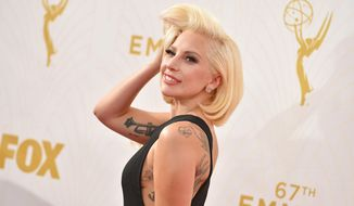 Lady Gaga arrives at the 67th Primetime Emmy Awards  at the Microsoft Theater in Los Angeles, in this Sept. 20, 2015, file photo. (Photo by Jordan Strauss/Invision/AP)