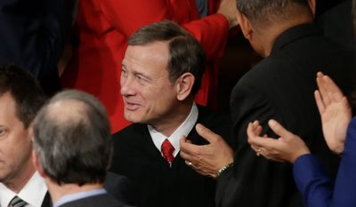 Chief Justice John G. Roberts Jr. will be put to conservatives' test again as he begins his second decade at the helm of the Supreme Court. He already has become a punching bag on the Republican campaign trail. (Associated Press)