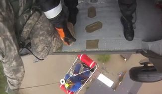 Soldiers and first responders from the South Carolina National Guard perform flood rescue operations during the statewide flood response.  More than 1300 South Carolina National Guard members were activated in response to the floods.  Video courtesy of South Carolina Helicopter Aquatic Rescue Team
