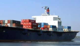 In this undated photo provided by TOTE Maritime shows the cargo ship, El Faro. The El Faro departed Jacksonville, Fla., on Sept. 29, 2015 when Joaquin was still a tropical storm. The ship had 33 crew members, and it was headed to Puerto Rico when it encountered heavy seas when Joaquin became a hurricane. The U.S. Coast Guard announced Monday, Oct. 5, 2015 that the El Faro has been lost. They are still searching for survivors. (TOTE Maritime via AP)