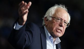 "Sen. Bernard Sanders' campaign said a less than 1 percent tax on Americans making more than $1 million per year would cover the lost revenue from a repeal of the Obamacare ""Cadillac tax."" (Associated Press)"