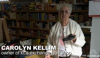 Carolyn Kellim, an 86-year-old grandmother who runs KC's Exchange gun shop out of the same Oregon town rattled by last week's mass shooting, has a few choice words for President Obama. (NBC News)