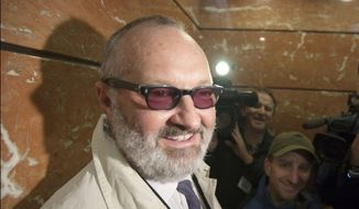 Actor Randy Quaid arrives for an immigration hearing in Vancouver, in this Oct. 28, 2010, file photo. Quaid says he could be deported from Canada next week and says he'd like to make movies in the U.S. again. He says he was detained by Canada Border Services on Tuesday, Oct. 6, 2015. (AP Photo/The Canadian Press, Jonathan Hayward, File)