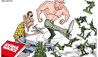 Syria Wars (Illustration by Gary Varvel for Creators Syndicate)