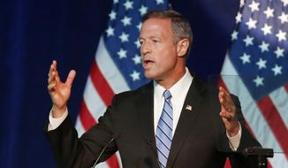 Democratic presidential candidate, former Maryland Gov. Martin O'Malley speaks in Minneapolis in this Aug. 28, 2015, file photo. (AP Photo/Jim Mone) ** FILE **