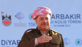 Kurdistan Regional President Masoud Barzani refused to step down when his term ended Aug. 19. (Associated Press)