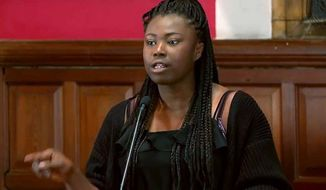 Annie Teriba, a prominent student activist from Oxford University, is resigning from her numerous positions after admitting she engaged in non-consensual sex at a conference earlier this year. (Oxford Union via The Guardian)