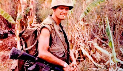Jim Webb, pictured as a U.S. Marine during the Vietnam War, may consider a third-party presidential run. (Jim Webb 2016)