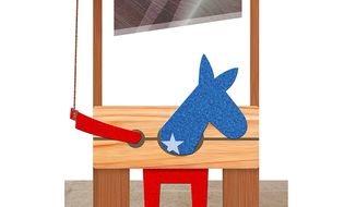 Democrat Deathwish Illustration by Greg Groesch/The Washington Times