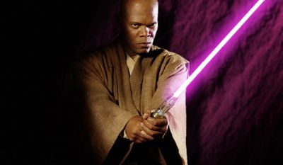 A grim Jedi Master with an amethyst-bladed lightsaber, Mace Windu (Samuel L. Jackson)was the champion of the Jedi Order, with little tolerance for the failings of the Senate, the arguments of politicians, or the opinions of rebellious Jedi.