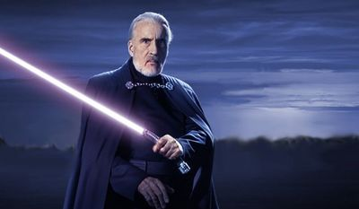 Count Dooku (Christopher Lee) was a menacing Sith Lord and central figure in the Clone Wars. Once a Jedi -- trained by Yoda -- he became disillusioned with the Jedi Order and thirsted for greater power.