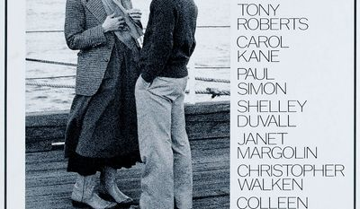 """#17 Annie Hall (1977)  Director: Woody Allen  Stars: Woody Allen, Diane Keaton, Tony Roberts.   Annie Hall is a 1977 American romantic comedy film directed by Woody Allen from a screenplay he co-wrote with Marshall Brickman. Produced by Allen's manager, Charles H. Joffe, the film stars the director as Alvy """"Max"""" Singer, who tries to figure out the reasons for the failure of his relationship with the film's eponymous female lead, played by Diane Keaton in a role written specifically for her. Principal photography for the film began on May 19, 1976 on the South Fork of Long Island, and filming continued periodically for the next ten months. Allen has described the result, which marked his first collaboration with cinematographer Gordon Willis, as """"a major turning point"""", in that unlike the farces and comedies that were his work to that point, it introduced a new level of seriousness. Academics have noted the contrast in the settings of New York City and Los Angeles, the stereotype of gender differences in sexuality, the presentation of Jewish identity, and the elements of psychoanalysis and modernism. Annie Hall was screened at the Los Angeles Film Festival in March 1977, before its official release on April 20, 1977. The film received widespread critical acclaim, and along with winning the Academy Award for Best Picture, it received Oscars in three other categories: two for Allen (Best Director and, with Brickman, Best Original Screenplay), and Keaton for Best Actress. The film additionally won four BAFTA awards and a Golden Globe, the latter being awarded to Keaton. Its North American box office receipts of $38,251,425 are fourth-best in the director's oeuvre when not adjusted for inflation. Often listed among the greatest film comedies, it ranks 31st on AFI's list of the top feature films in American cinema, fourth on their list of top comedy films and number 28 on Bravo's """"100 Funniest Movies."""" Film critic Roger Ebert called it """"just about everyone's favorite Wood"""