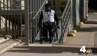 United Airlines has apologized after D'Arcee Neal said he was forced to crawl off a plane Tuesday night as he was traveling home from giving a talk about accessible transportation for the disabled. (NBC 4 Washington)