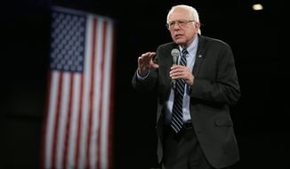 Democratic presidential candidate Sen. Bernie Sanders, I-Vt., speaks during the Iowa Democratic Party's Jefferson-Jackson Dinner, Saturday, Oct. 24, 2015, in Des Moines, Iowa. (AP Photo/Charlie Neibergall)