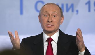 In a public opinion survey published Oct. 8 by the independent Levada Center pollster, more than 70 percent of Russians said they backed President Vladimir Putin's decision to launch airstrikes against forces opposed to Syrian President Bashar Assad. (Associated Press)