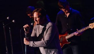 """Actor and singer David Duchovny performs at The Cutting Room, to promote his debut album """"Hell or Highwater"""" on Tuesday, May 12, 2015, in New York. (Photo by Evan Agostini/Invision/AP)"""