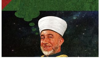 Illustration on Amin al-Husseini and the roots of the PLO by Alexander Hunter/The Washington Times