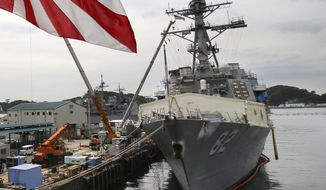 The USS Lassen is anchored in Yokosuka near Tokyo in this May 27, 2014 file photo. (Associated Press)