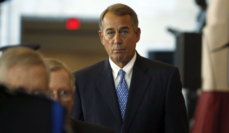 "The outgoing House Speaker John A. Boehner had promised to ""clean the barn"" of tough issues before he leaves, and the talks were a last chance for him to try to win more entitlement spending cuts. (Associated Press)"