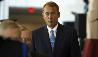 """The outgoing House Speaker John A. Boehner had promised to """"clean the barn"""" of tough issues before he leaves, and the talks were a last chance for him to try to win more entitlement spending cuts. (Associated Press)"""