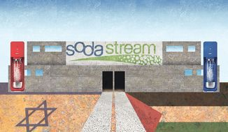 Illustration on the Soda Stream company in Israel by Alexander Hunter/The Washington Times