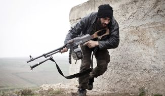 """The author of a study calls the Free Syrian Army """"the cornerstone of Syria's moderate opposition component."""" (Associated Press/File)"""